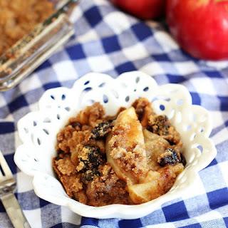 Apple and Tart Cherry Crisp