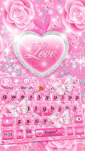 Pink Love Princes Keyboard Theme 10001002 screenshots 1