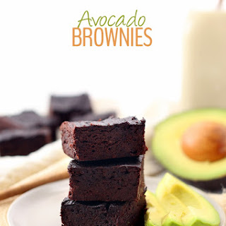 Healthy Avocado Brownies.