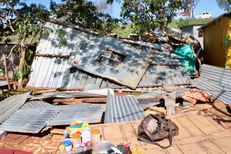 A home in Umlazi ruined in the storm that hit Durban on Tuesday.