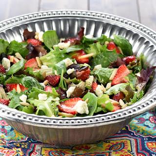 Easter Salad ~ AKA, Strawberry Goat Cheese Salad with Lemon Honey Vinaigrette.