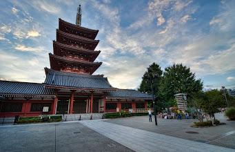 Photo: A four tiered pagoda at Sensoji Temple