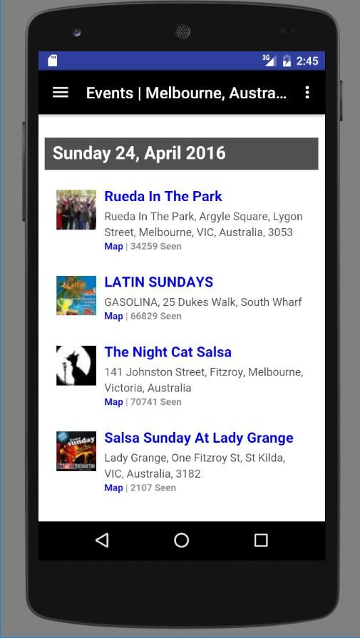 Latin Dance Calendar- screenshot