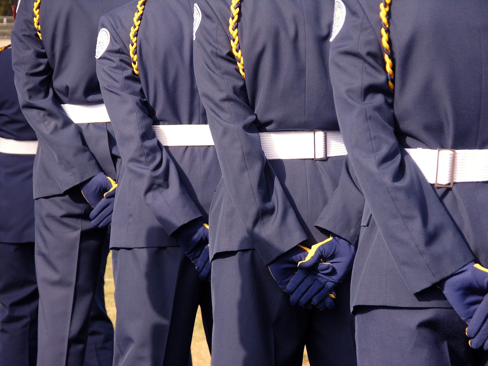 rotc scholarship: junior rotc in uniform
