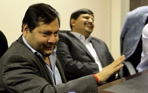 Ajay and Atul Gupta with Duduzane Zuma. Picture: SUPPLIED