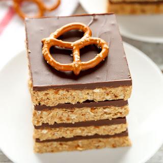 No-Bake Peanut Butter Pretzel Bars