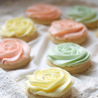 "Pastel ""Rose"" Sugar Cookies"