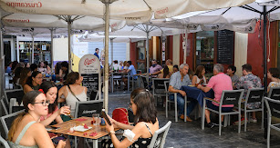 Ambiente en el centro en el miércoles de 'no Feria'.