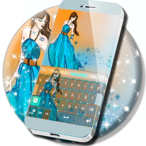 Girly Aquarius Keyboard Aplicaciones (apk) descarga gratuita para Android/PC/Windows