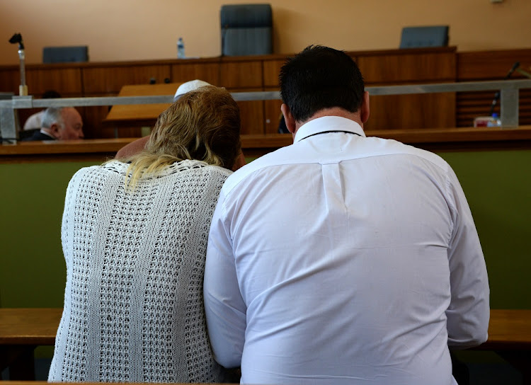 "The man and woman of the Springs ""House of Horrors"" appears in the Delmas High court on May 18, 2015."