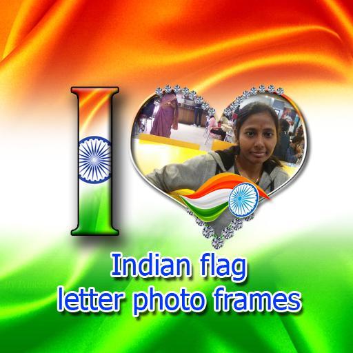 Indian Flag Letter Photo Frames