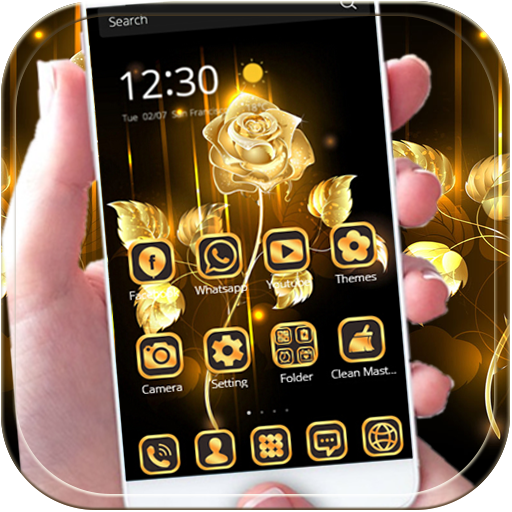 Gold Rose theme luxury gold