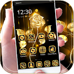 Gold Rose theme business gold