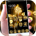 Gold Rose theme business gold icon
