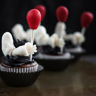 Creepy Clown Cupcakes Inspired by the IT Movie.