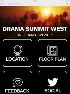 Drama Summit West Agenda- screenshot thumbnail