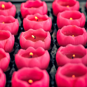 Pink candles by Wira Suryawan - Uncategorized All Uncategorized ( amazing, candles, pink, cute, wonderful, breast cancer awareness, lighting, lights, mood factory, hot pink, mood, scents, color, mood-lites, sassy, brighten our world )