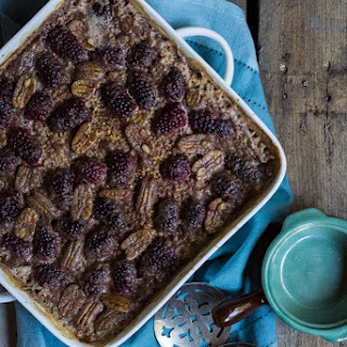 Baked Blackberry Pecan Steel Cut Oatmeal