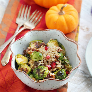Roasted Brussels Sprout Quinoa Salad – Gluten-Free + Vegan Recipe
