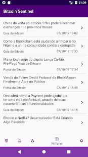 Bitcoin Sentinel - náhled