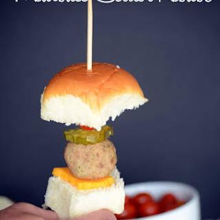 Meatball Slider Kebabs.