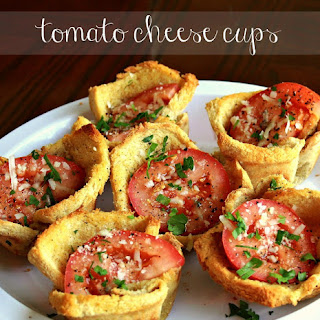 Tomato and Cheese Cups