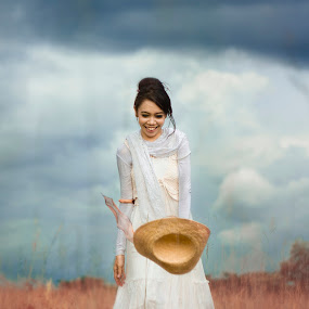 The joy by Jukers Hatero - People Portraits of Women ( dreaming, dream, happy, happy girl, smile )