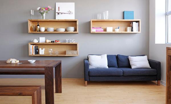 Lựa chọn những ô trang trí phòng khách bằng gỗ