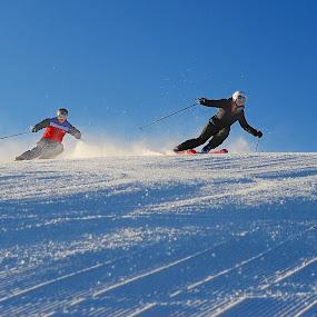 Skiing in Sun Valley Idaho by Tory Taglio - Sports & Fitness Snow Sports ( baldy, pwcwintersports-dq, ski resort, powder, ketchum, sun valley, skier )