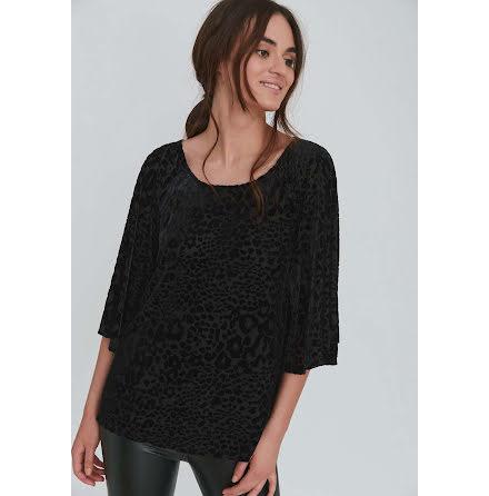 Dry Lake Gala blouse black leo velvet