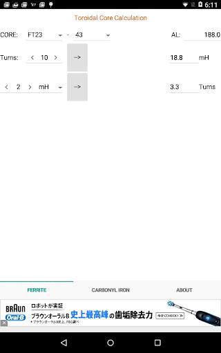 Toroidal core calculator 1.0.0 Windows u7528 3