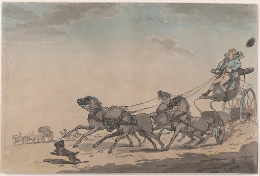 A Four-in-Hand, or The Runaway Carriage