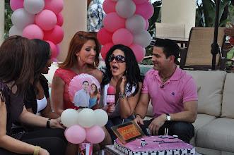 Photo: Telemundo 51 - Acceso Total with Maria  Conchita Alonso. Balloon Centerpieces by Paola Gallardo. http://www.BestPartyPlanner.net