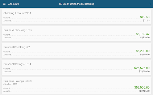 GE Credit Union Mobile Banking- screenshot thumbnail