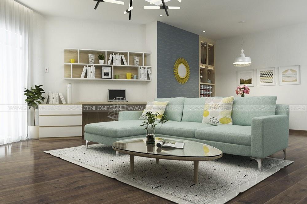 Thiết kế phong cách Scandinavian cho căn hộ chung cư Him Lam Chợ Lớn