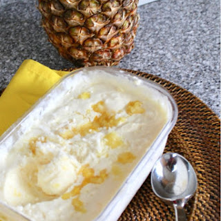 Pineapple Coconut No-Churn Ice Cream Recipe