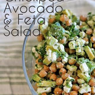 Chickpea, Avocado & Feta Salad.