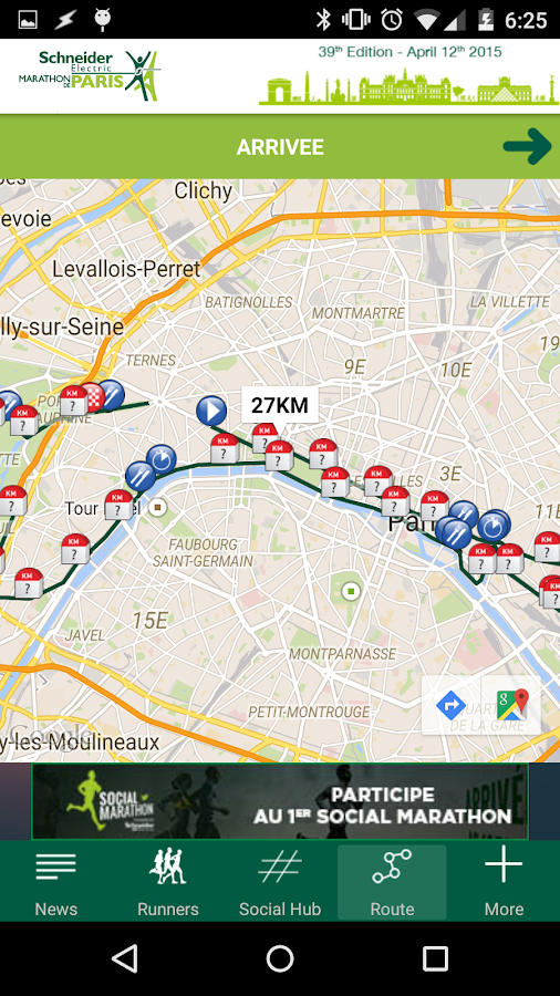 Paris Marathon 2015- screenshot