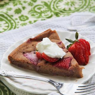 """Strawberry Banana """"Bread"""" Cake."""