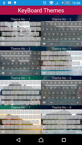 Phuket Keyboard Themes