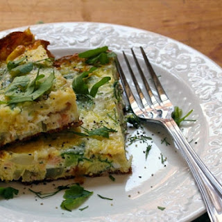 Frittata With Fennel, Avocado And Smoked Salmon {gluten-free}