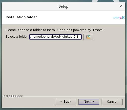 Figura 6 - Indicar en que ruta instalar el Open edX