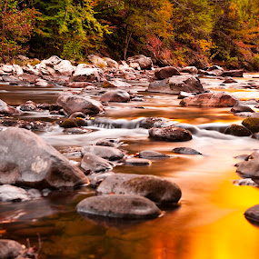Tranquility  by Cathie Crow - Landscapes Waterscapes ( water, great smoky mountains, fall colors, nature, great smoky mountains national park, fall, long exposure photography, national parks, long exposure, waterscapes )