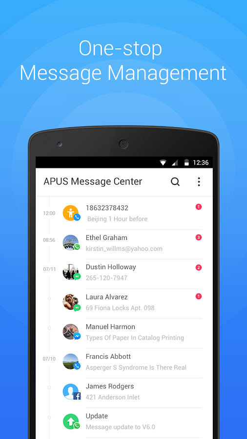 Screenshots of APUS Msg Center- Quick Reply for iPhone