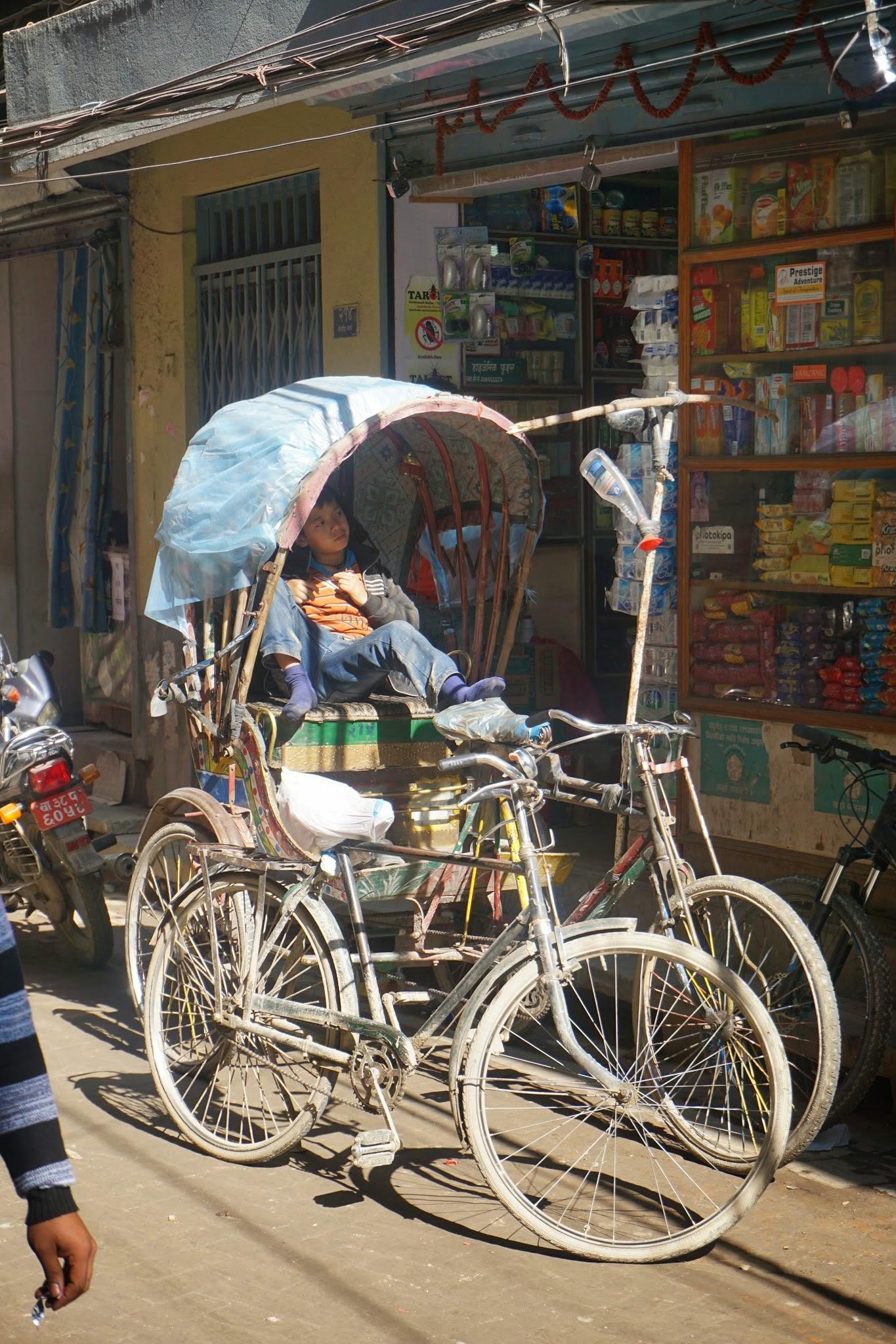 Photo: Rickshaw in Thamel