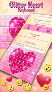 Glitter Heart Keyboard screenshot 1