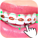 Braces Booth Stickers photo editor 2018 icon