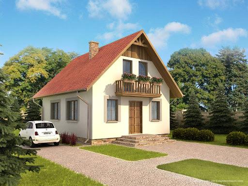 projekt Domek Mały szkielet drewniany 004 ES