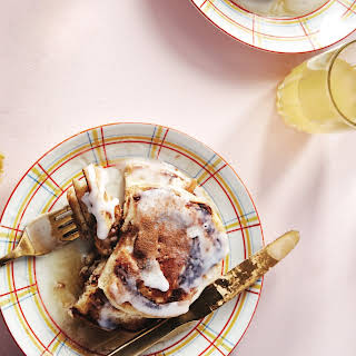 Make These Cinnamon Roll Pancakes.