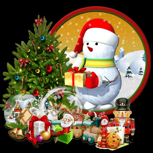 3d cute snowman theme